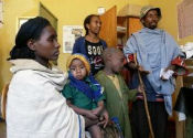 Ethiopia patients in clinic