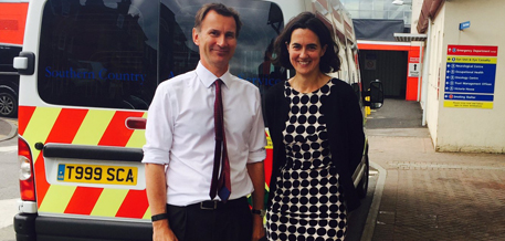 Jeremy Hunt and Fiona Dalton