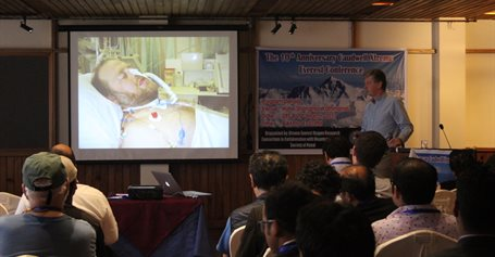 Prof Mike Grocott in Nepal