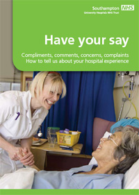Have your say leaflet: compliments, comments, concerns, complaints