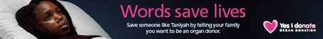 Words saves lives - Taniyah banner