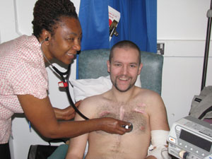 Dr Laisha Gogola and patient Rob Seymour
