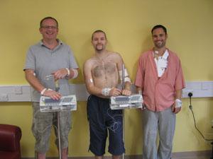 Patients Jonathan, Rob and Eamonn