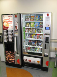 Vending machine, cardiac outpatients