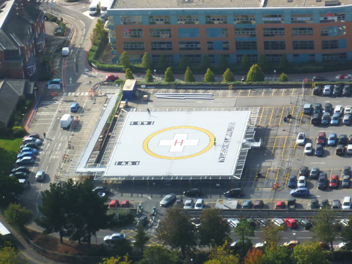 Helipad works October 2011: Aerial photograph of the helipad