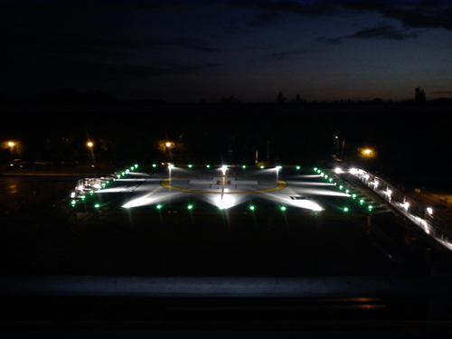 Helipad works October 2011: the helipad at night