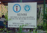 Sign outside the centre in Kenya
