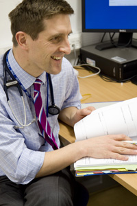 Dr Thom Daniels in clinic