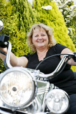 Lynda Painter and motorbike